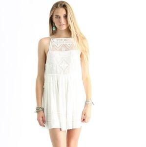 FREE PEOPLE Emily white crochet mini dress